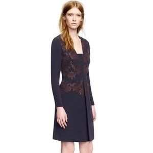 Tory Burch Connie Embroidered Beaded Pleated Dress